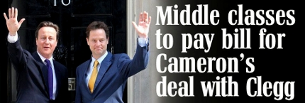 daily mail middle classes cameron clegg